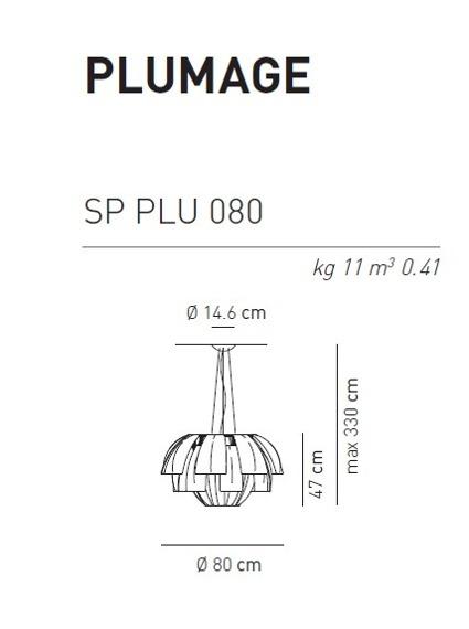 Oprawa Wisząca Plumage 080 AXO Light  wielokolorowa