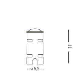 Oświetlenie najazdowe Rocket Mini PT1 Two sides Ideal Lux
