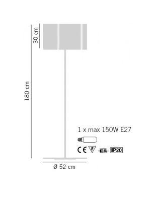 REFLEX PI 1001/180 Lampa podłogowa Lampade Italiane orange