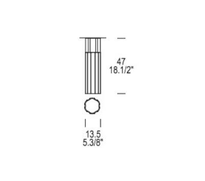 Reed PL 135 Lampa Sufitowa Leucos 13,5 cm przezroczysta