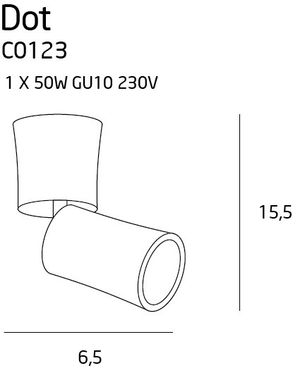 Reflektorek MaxLight Dot C0123