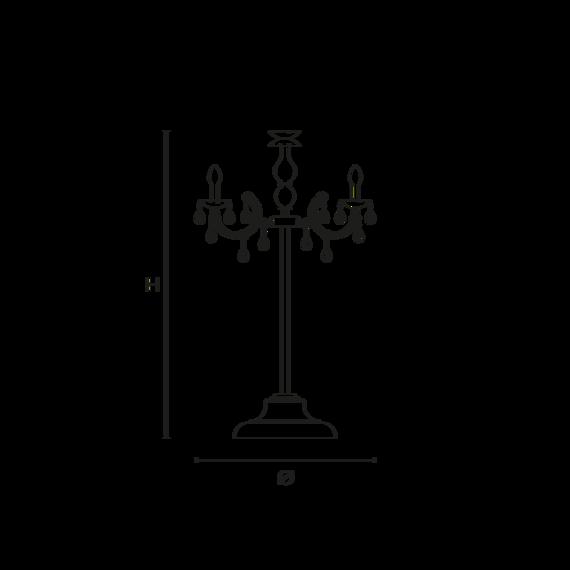 Stojąca lampa zewnętrzna Masiero Drylight TL6