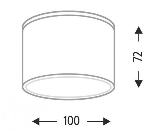 Suwa 1174 Shilo Biały Lampa sufitowa