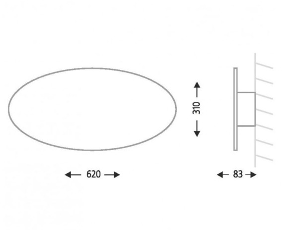Suzu 4472 Shilo Biały Lampa ścienna