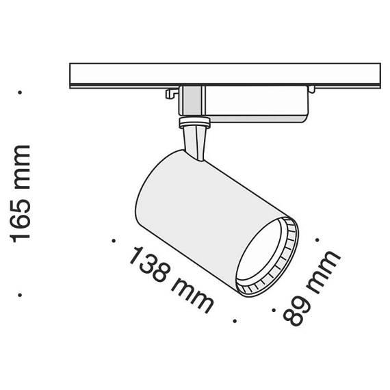 Szyno przewód Reflektor Maytoni Track TR003-1-17W3K-W Barwa 3000 K