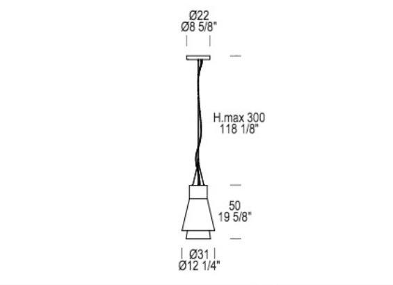 Trigona B  Oprawa Wisząca Leucos tytanowa LED