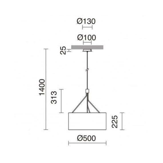 Zwis Diagonal 855D-G05X1A-01 Novolux Exo