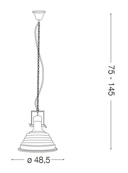 Zwis FISHERMAN SP1 134871 miedź Ideal Lux