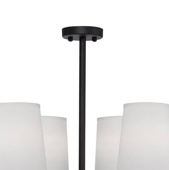 Żyrandol Czarno Złoty Berella Light Kampo 6 BL5423