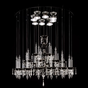 Żyrandol Facon de Venice LIMELIGHT 28.8 crystal/black