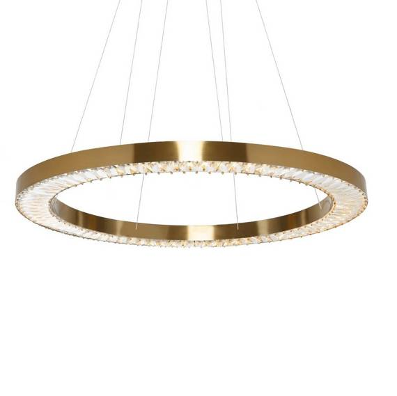 Żyrandol Złoty Szklany Berella Light Moloko 80 BL5431